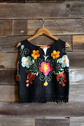 Vintage Embroidered Sleeveless Top | Women's