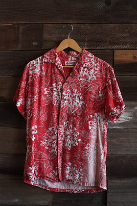 '50s Alfred Shaheen Hawaiian Sun-Faded Button Up