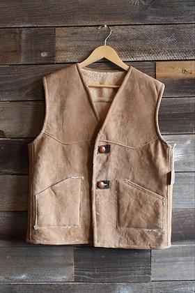 '60s Suede Shearling Vest   Men's M/L