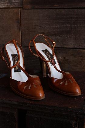 '80s Caressa Leather Heels