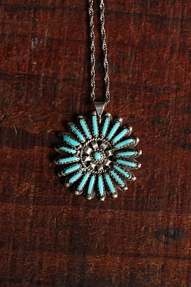 Zuni Needlepoint Starburst Pendant