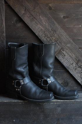 Vintage Black Moto Harness Boots |