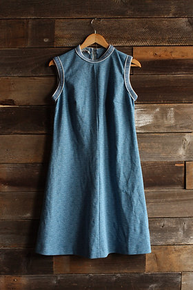 '70s Montgomery Ward A-Line Poly Dress - Large