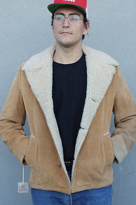 '70s Cresco Suede Shearling Western Jacket | Size 40
