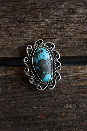 Vintage Large Turquoise Stone Ring | 6.5