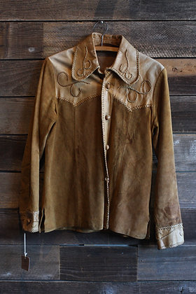 '50s/'60s Suede + Leather Jacket | Women's M