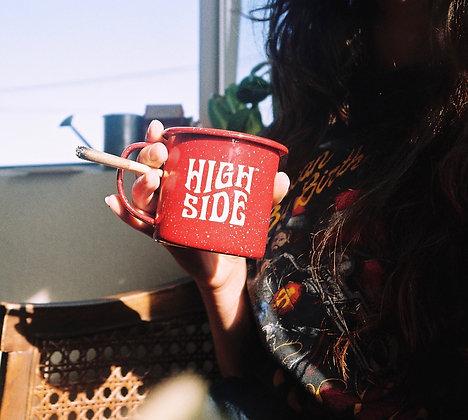High Side Coffee Enamel Camp Mug