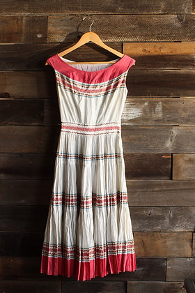 '60s Ric Rac Patio Dress - X-Small