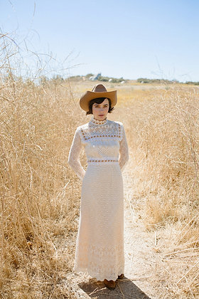'60s Handmade Lace Gown - S/M