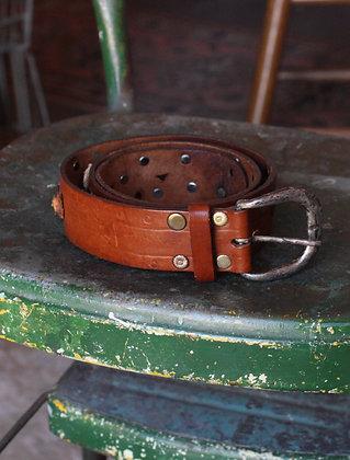 Vintage Studded Leather Belt | Men's S