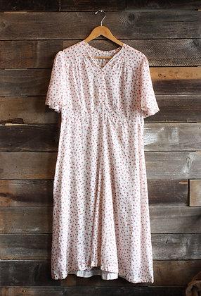 Antique Calico Sheer Dress | M/L