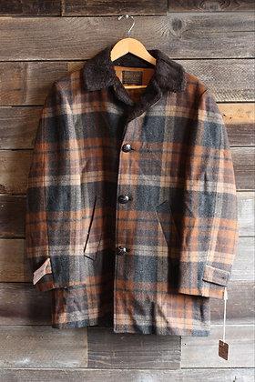 '50s Pendleton Brown Plaid Sherpa Jacket | Men's L