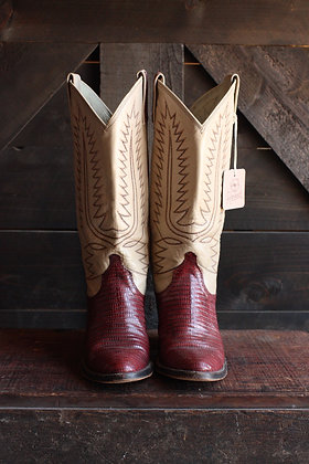Vintage Dan Post Lizard Cowgirl Boots - 6