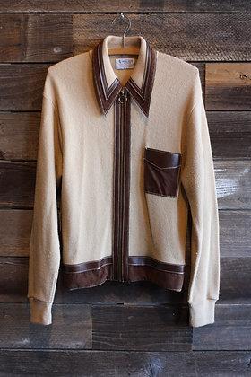 '60s Acrylic Zip Sweater | Men's Medium