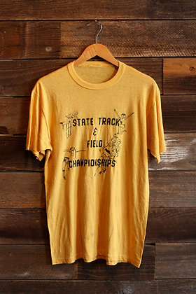 '70s Paper Thin Mustard Track Tee - Men's Large