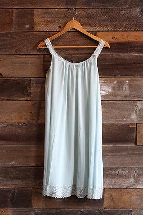 '70s Baby Blue Slip Dress   Small/Medium