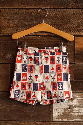 1960's Deadstock Sailor Shorts - Kid's 2-3
