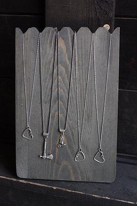 Black Powder Silver Pendant Necklaces