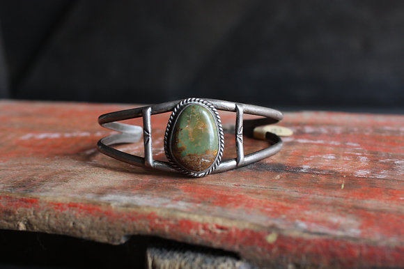 Old Pawn Green Turquoise Cuff