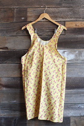 '40s Yellow Floral Smock Apron | S/M