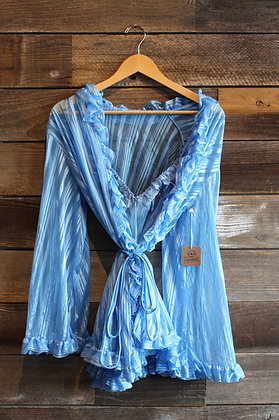 '70s Frederick's Baby Blue Slip Set | M/L