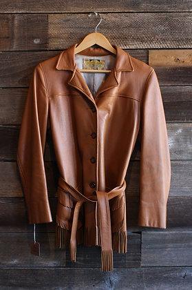 '50s/'60s Belted Deerskin Fringe Jacket | Women's S