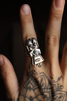 RARE Kachina Doll Ring - 8