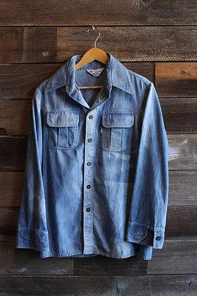 '70s Levi's Sunfaded Panatela Denim Shirt | Men's M