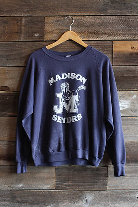 '87 Madison Seniors Raglan Sweatshirt | Men's L