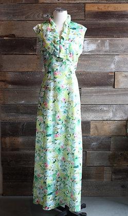 '70s Keylime Floral Maxi Dress | L/XL