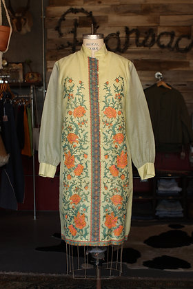 '70s Alfred Shaheen Shift Dress - Large