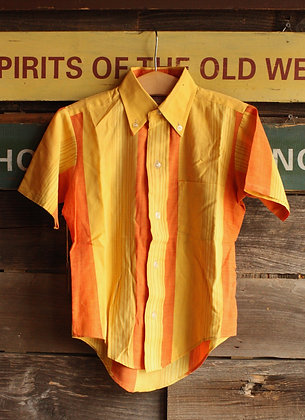 '60s Sears Orange Striped Button Down - Kid's 8