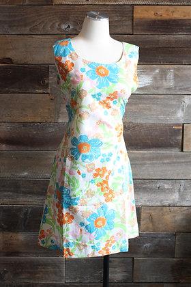 '60s Pastel Floral House Dress | M/L
