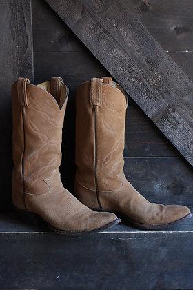 Vintage Suede Tony Lama Cowboy Boots | 9.5/11