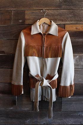 '50s  Two Tone Deerskin Jacket | Women's S