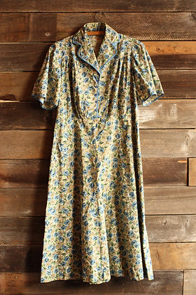 '40s Floral House Dress - Large/X-Large