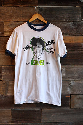 '77 Elvis Ringer Tee - Mens Large