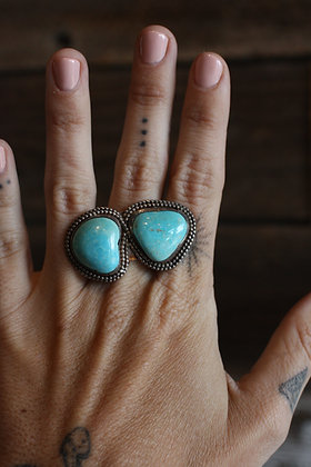 Vintage Double Turquoise Stone Ring | 8