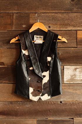 Pioneer Wear Hair on Hide Cow Vest - Small