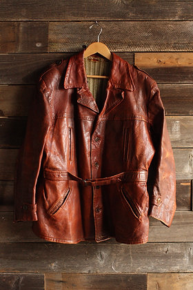 RARE '40s Belted Leather Jacket