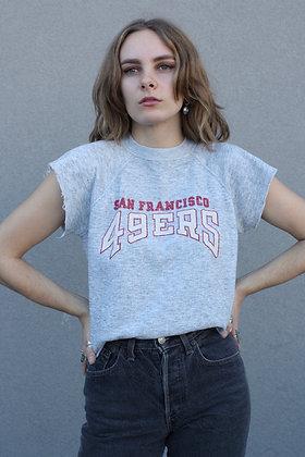 '70s SF 49ers Cutoff Sweatshirt | Men's M / Women's L