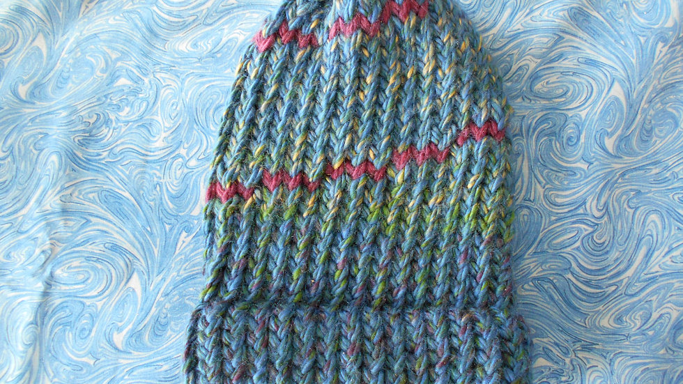 Blue Purple Stripe Beanie