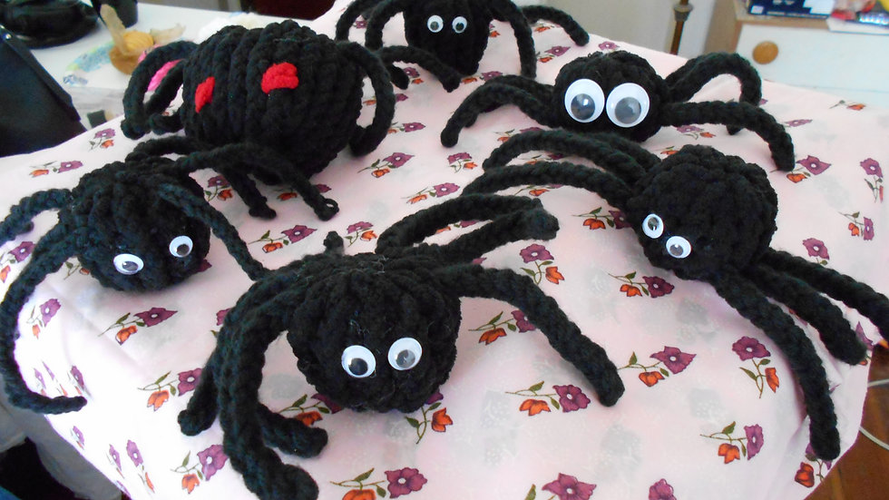 Googly Spiders