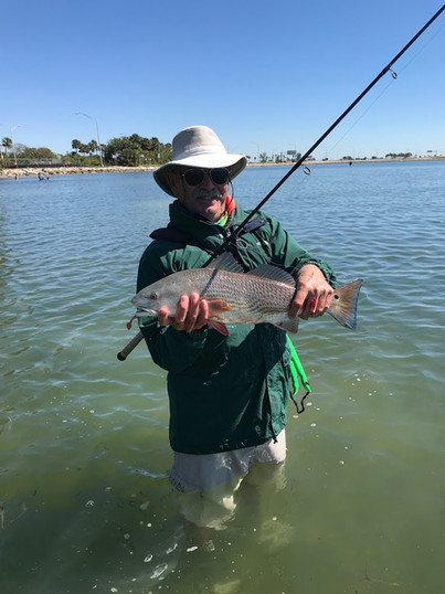 Mark Moore w redfish from skyway rest st