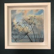 Miniature. Oil on board - Framed.