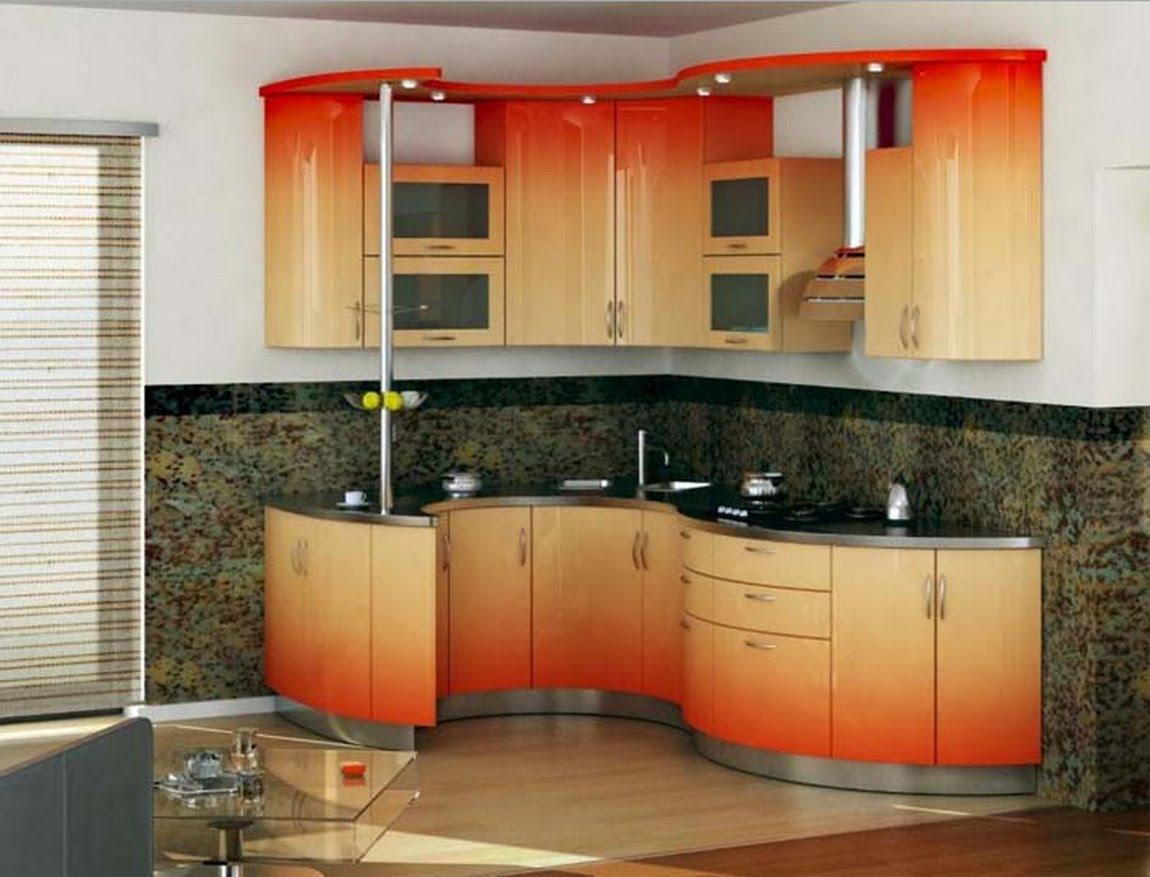 кухни с выпуклым углом фото