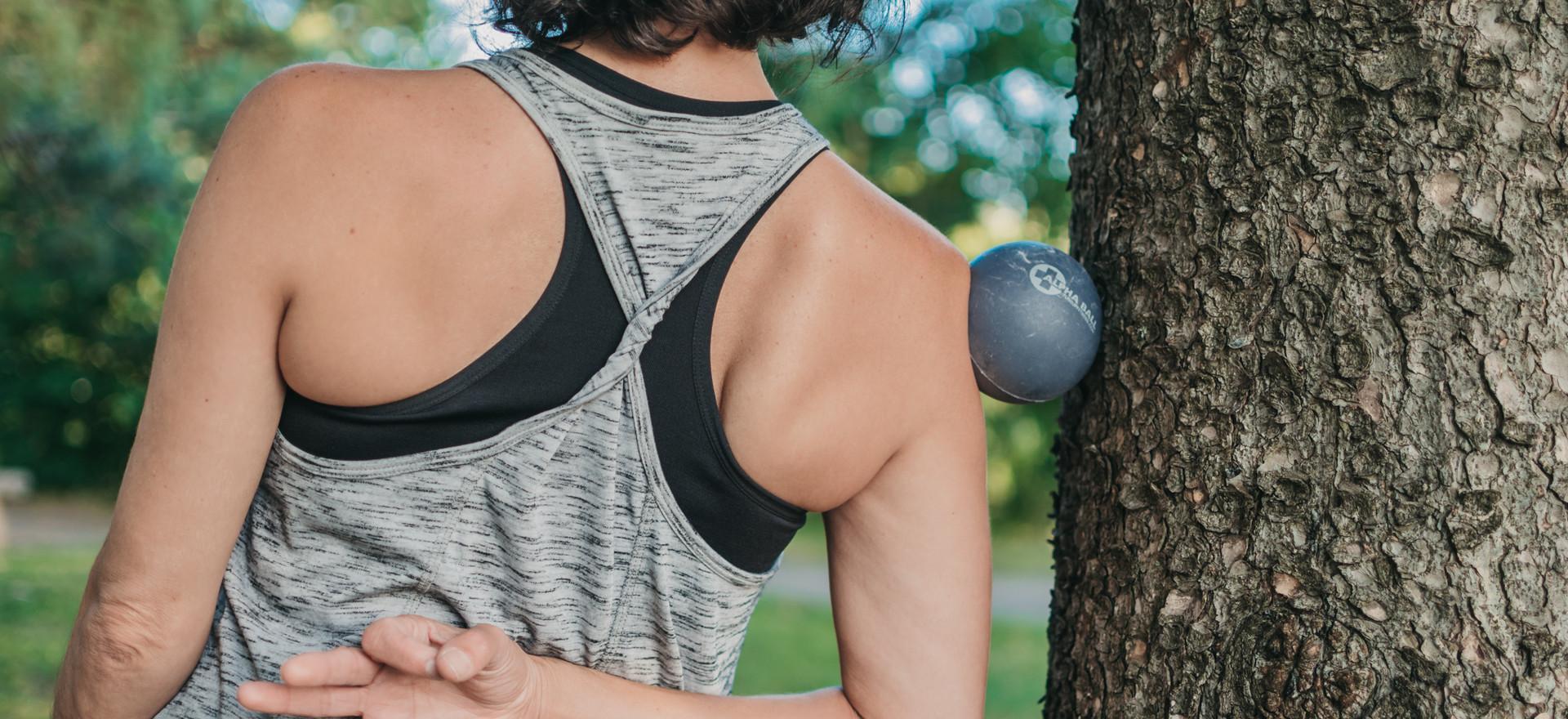 Yoga balles Trois-Rivières deltoïde