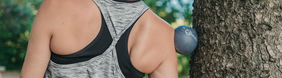 Yoga balles deltoïde