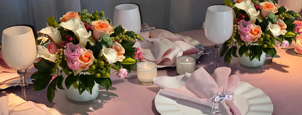 Soft Shades of Pink - Place Setting Collection for 6 Guests