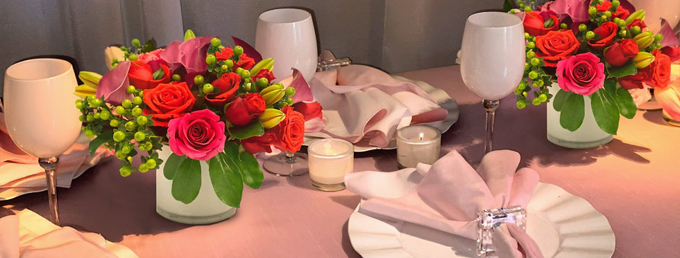 Bright Shades of Pink - Place Setting Collection for 6 Guests
